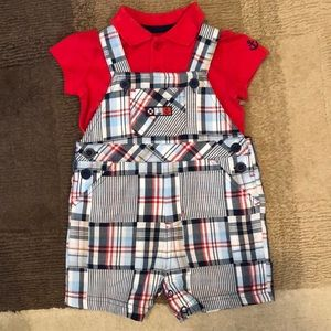 NWOT Little Me Overall Nautical Set Size 9 M